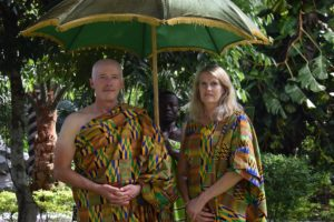 Robert and Angé Workman are made king and queen of development in Kushea