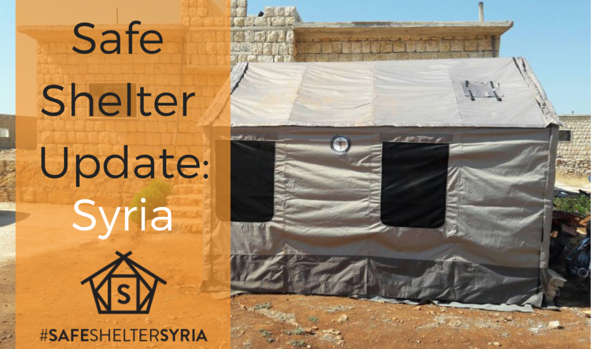Barebones Living tents used as medical triage and protected space for children and families in Syria