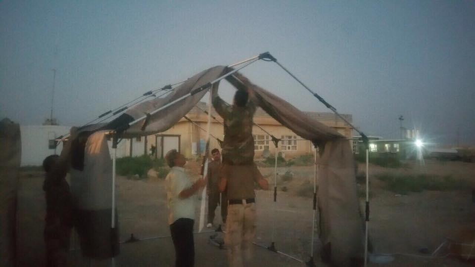 SAMS setting up safe shelter