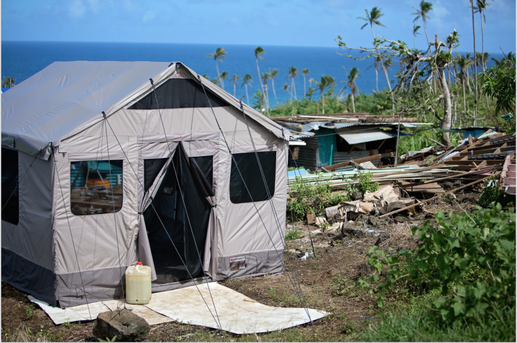 Tifie Humanitarian works with humanitarian organizations to provide safe shelters and power to disaster victims